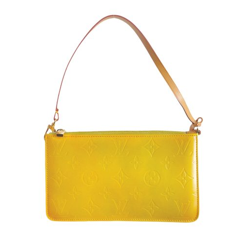 Vintage Louis Vuitton Vernis Monogram Mini Shoulder Bag in Yellow   NITRYL