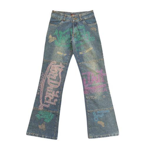 Von Dutch Diamante Flare Jeans W27   NITRYL